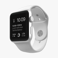 3d model apple watch sport white