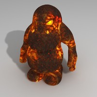 3d model lava monster