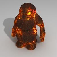 3d model lava monster
