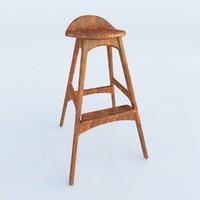 italian bar stool 3d model