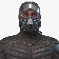 free man bust 3d model