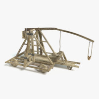 large catapult 3d model