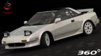 3d model of toyota mr2 1989