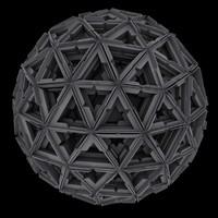 3d geometric sphere sci fi