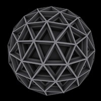 3ds max geometric sphere sci fi