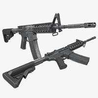 3d model assault rifle m4