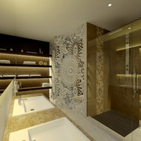 maya scene modern bathroom