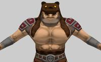 fantasy character barbarian 3d model