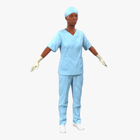 female surgeon african american 3ds