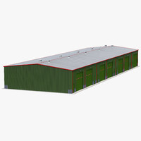 warehouse building green 3d max