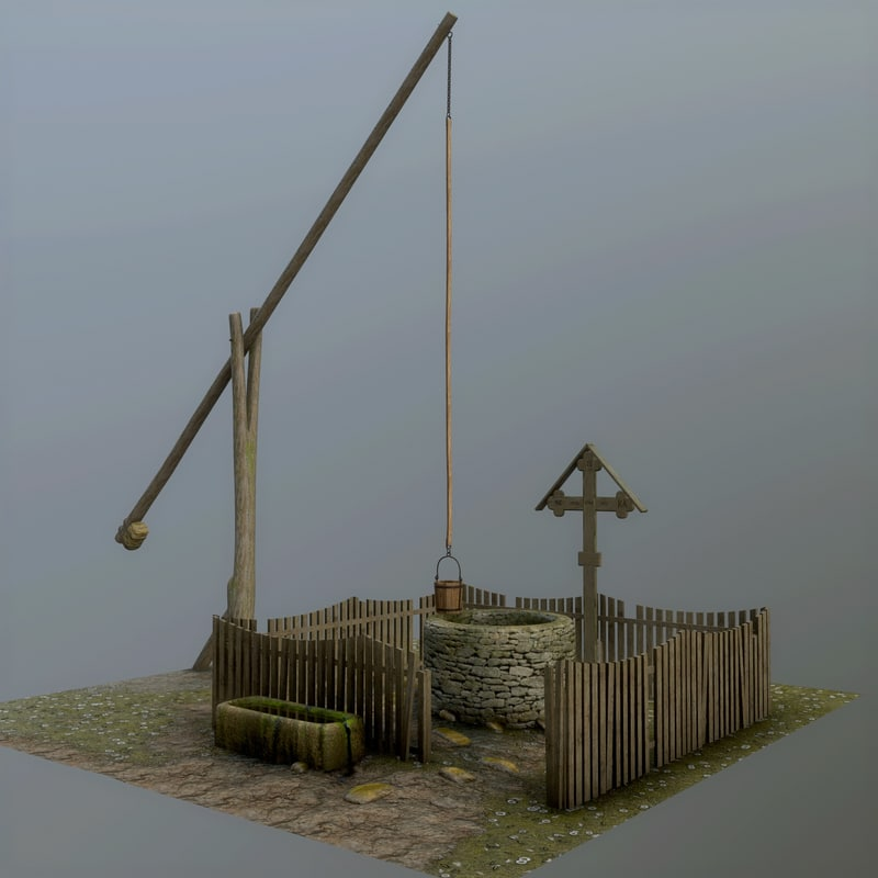 3d Model Of Draw Shadoof Scaled