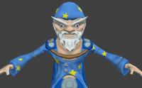 fantasy character mage 3d obj