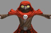 warlock fantasy character 3d model