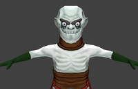 necromancer fantasy character 3d model