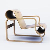 3d armchair paimio alvar aalto model