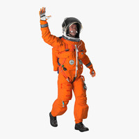 3d astronaut wearing advanced crew model
