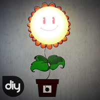 sunflower diy lamp 3d model