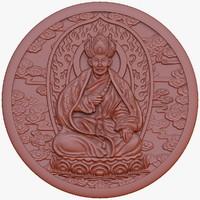 3d model of monk
