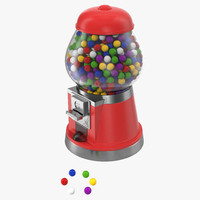 bubble gum dispenser 3d max