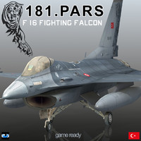 turkish air force f-16 3d model
