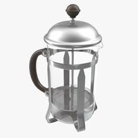 3d model french press coffee pot