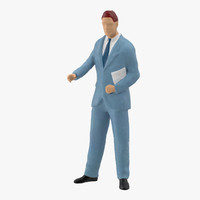 3d model of business man v3