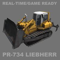 3d liebherr crawler tractor pr