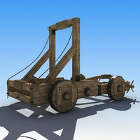 3d model siege catapults