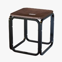 stool otto wagner 3d model