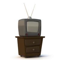 Cartoon TV set