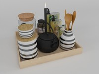 obj kitchen set