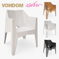 3d model vondom voxel silla chair design