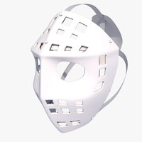 goalie mask 3d model