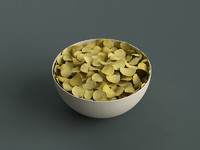 big bowl potato chips 3d obj