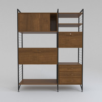 x bauhaus wall shelving unit