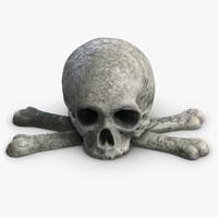 3ds max stone skull