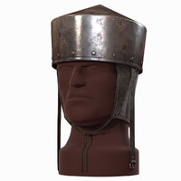 pot helmet medieval helm 3d model