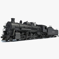 steam locomotive train 3d obj