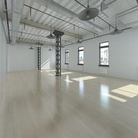 base loft interior scene 3d max