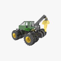 skidder heavy vehicle 3d 3ds