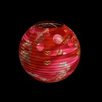chinesered lantern 3d max