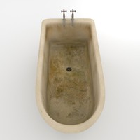 3d model old dirty bath