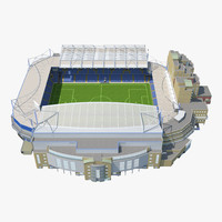 stamford bridge stadium 3d max