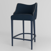 3d contemporary bar stool