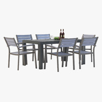 marvelous outdoor dining 3d model