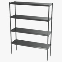 3ds standing shelving unit stainless steel