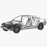 3d car frame chassis model