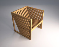 cubic chair 3ds