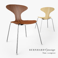 3d model bernhardt design orbit wood chair