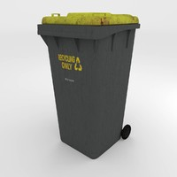 wheelie bin 3d model